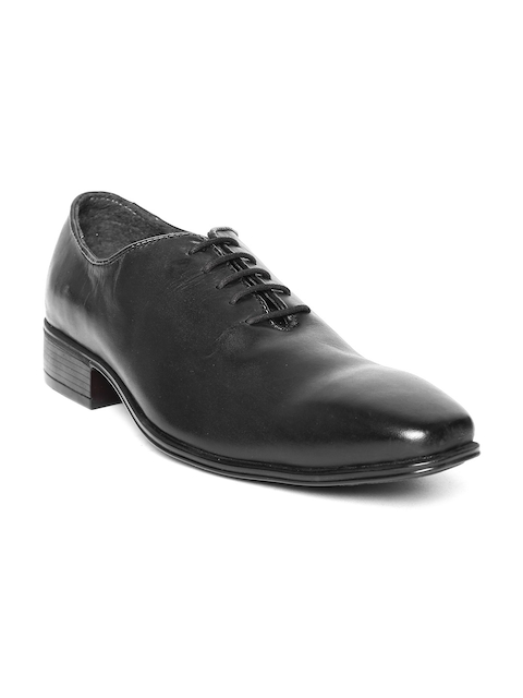 Escaro Men Black Handcrafted Leather Formal Shoes