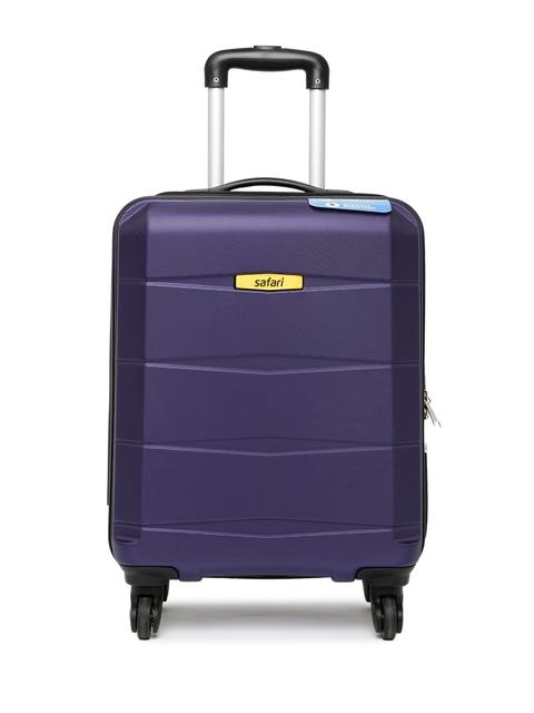 Safari Unisex Purple Regloss Anti-Scratch Small Trolley Suitcase