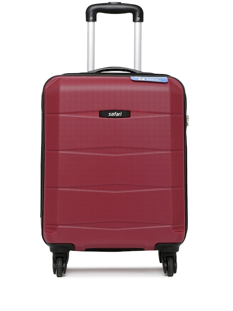 Safari Unisex Maroon Regloss-Antiscratch Small Trolley Suitcase