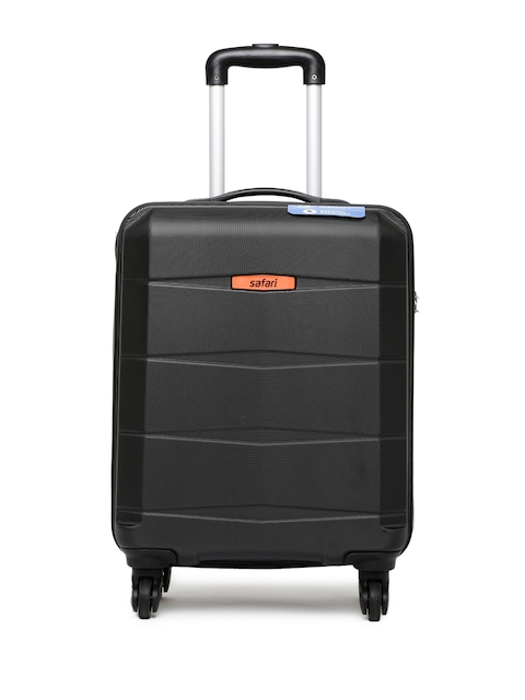 Safari Unisex Black Regloss Anti-Scratch Small Trolley Suitcase