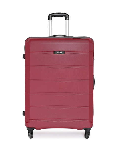 Safari Unisex Maroon Regloss-Antiscratch Large Trolley Suitcase