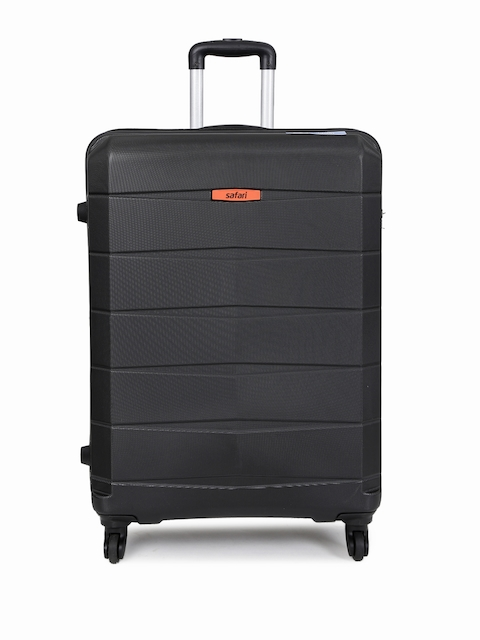 Safari Unisex Black Regloss-Antiscratch Large Suitcase