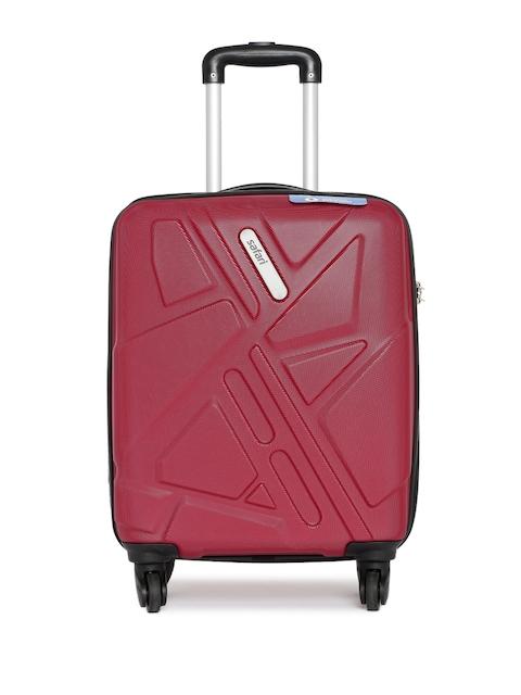 Safari Unisex Maroon Traffik Anti-Scratch Small Trolley Suitcase