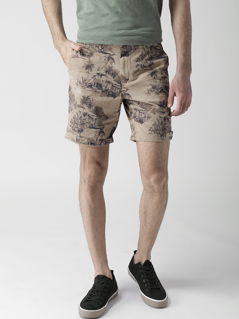 Tommy Hilfiger Men Beige Printed Shorts