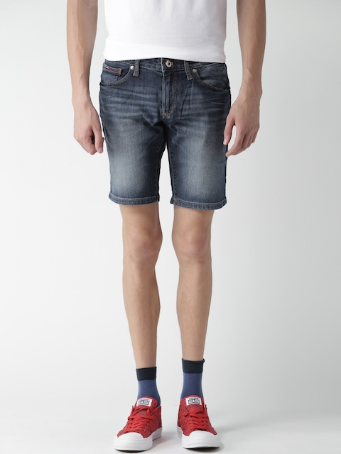 Tommy Hilfiger Men Blue Washed Scanton Slim Fit Denim Shorts