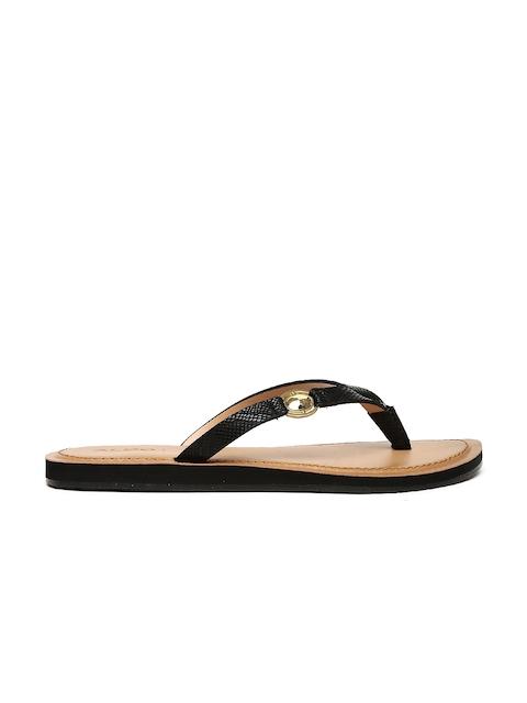 ALDO Women Black Solid Open Toed Flats