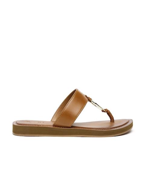 ALDO Women Tan Brown Flats