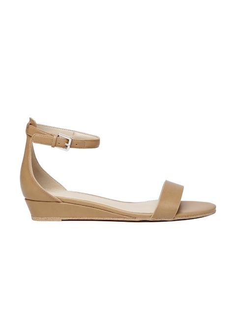 ALDO Women Brown Solid Open Toed Flats