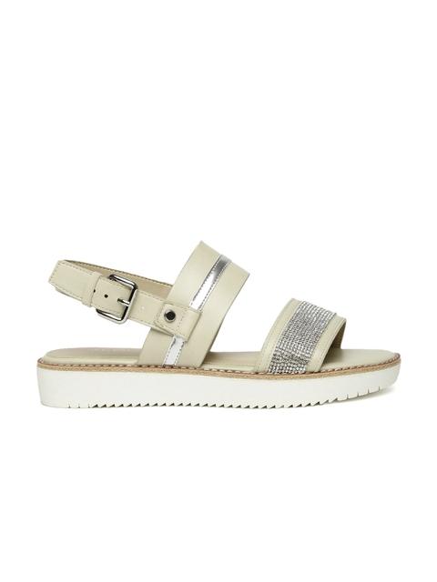 ALDO Women Silver-Toned Embellished Sandals