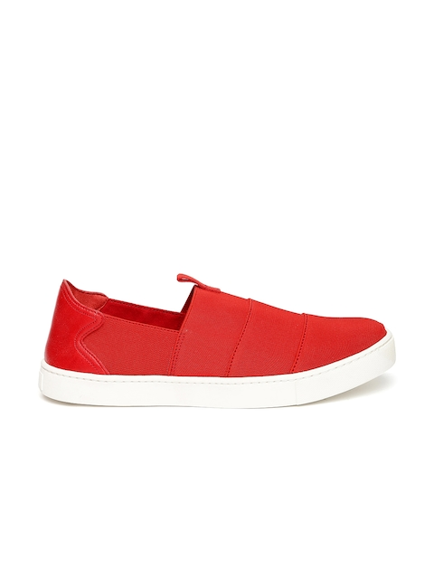 ALDO Women Red Slip-On Sneakers