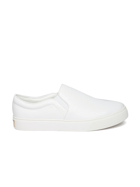 ALDO Women White Slip-On Sneakers