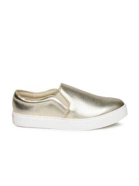 ALDO Women Gold-Toned Slip-On Sneakers