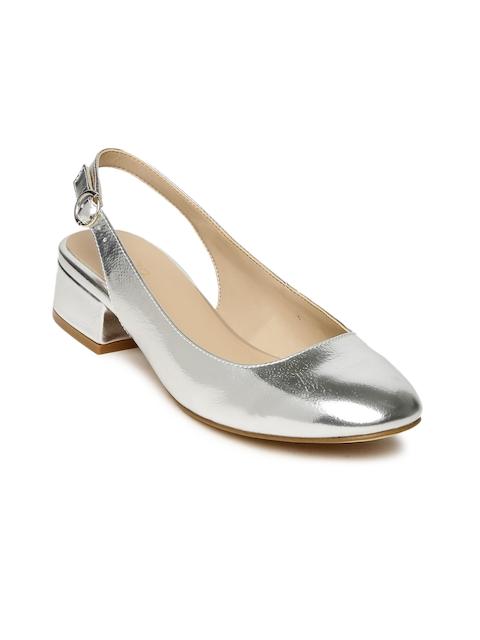 ALDO Women Silver-Toned Solid ETEANI Slingbacks