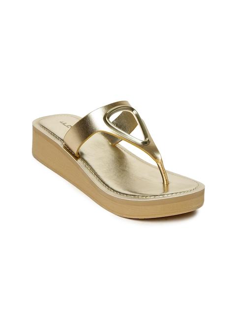 ALDO Women Gold-Toned Solid DYANA Sandals
