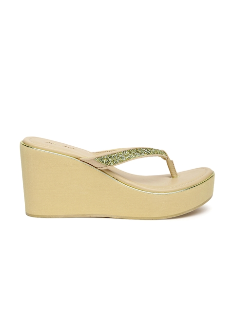 ALDO Women Gold-Toned Woven Design Wedges