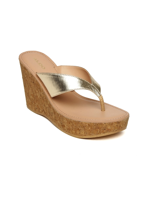 ALDO Women Gold-Toned Solid Wedges