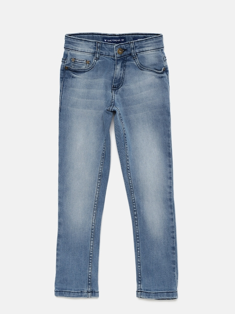 Fame Forever by Lifestyle Boys Blue Skinny Fit Stretchable Jeans  available at myntra for Rs.499