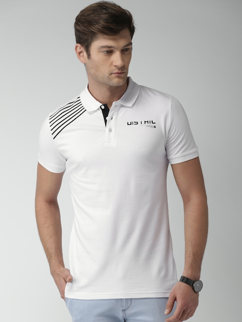 Celio Men White Solid Polo T-shirt  available at myntra for Rs.1019