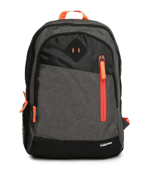 Gear Unisex Grey Solid Backpack