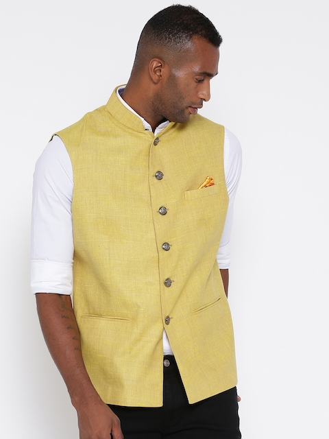 Monte Carlo Yellow Nehru Jacket