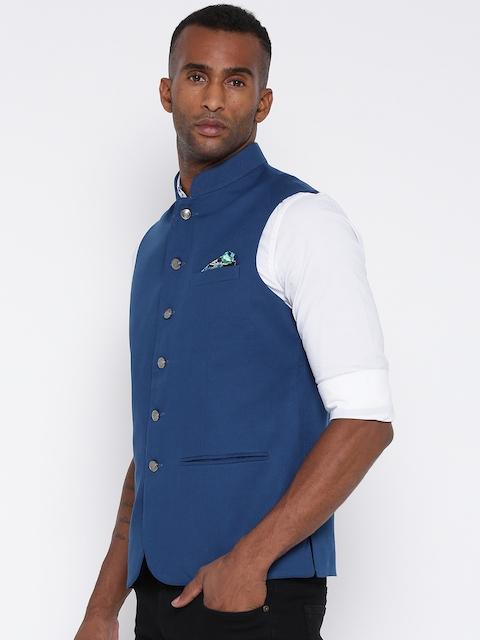 Monte Carlo Blue Nehru Jacket