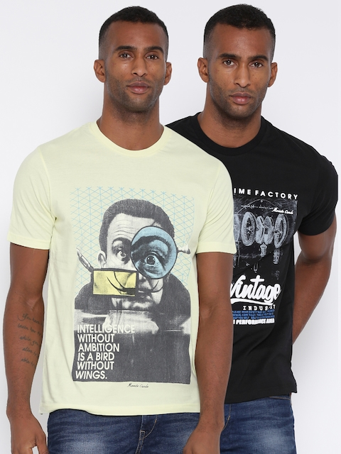 Monte Carlo Men Pack of 2 Printed T-shirts
