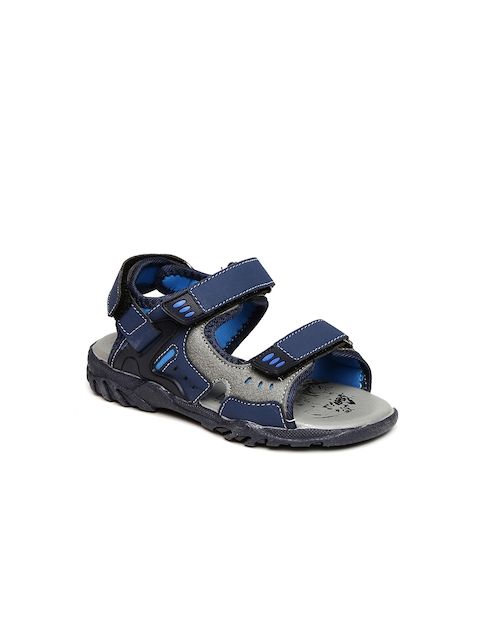 Fame Forever by Lifestyle Boys Navy Blue Sports Sandals