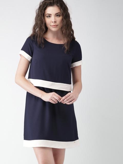 Tommy Hilfiger Women Navy Solid A-Line Dress