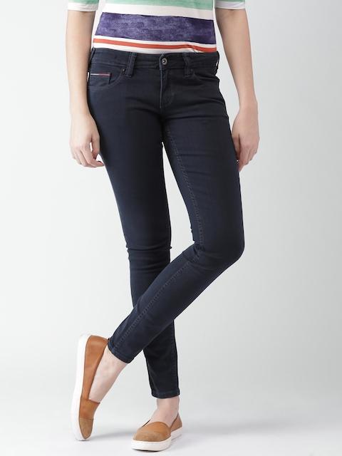 Tommy Hilfiger Women Navy Skinny Fit Stretchable Jeans