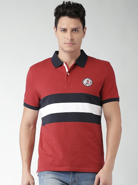 Celio Men Red Solid Polo T-shirt  available at myntra for Rs.949