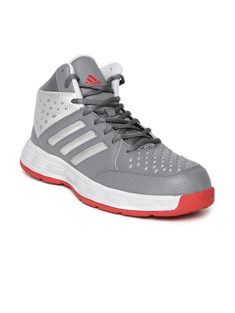 Adidas Men Grey Basecut Basketball Shoes