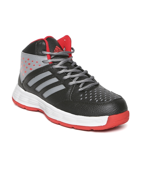 ADIDAS Men Black Basecut Basketball Shoes