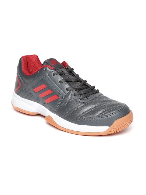 Adidas Men Charcoal Grey Baseliner 2 Tennis Shoes