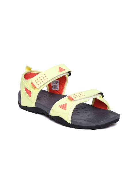 Adidas Women Yellow & Grey WINCH Printed Outdoor Sandals