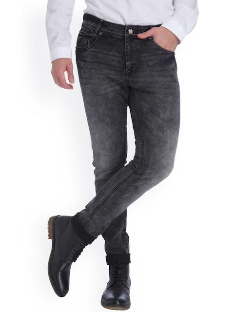 Mufti Men Black Skinny Fit Jeans