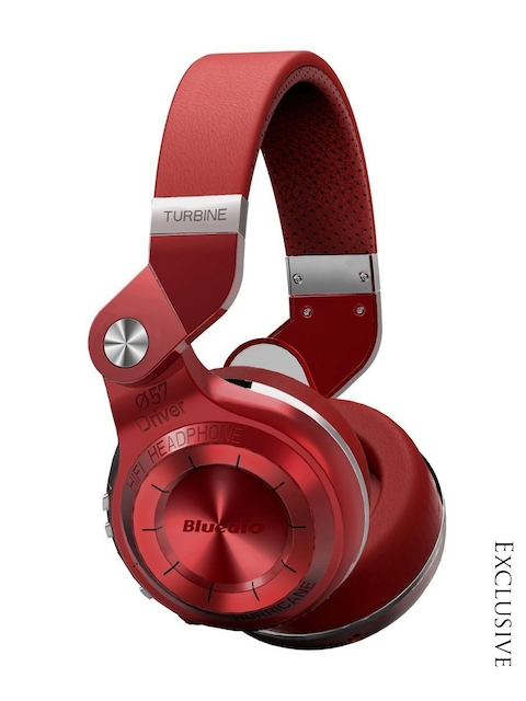 Bluedio Red Over Ear T2+ Bluetooth Foldable Headphones with Mic