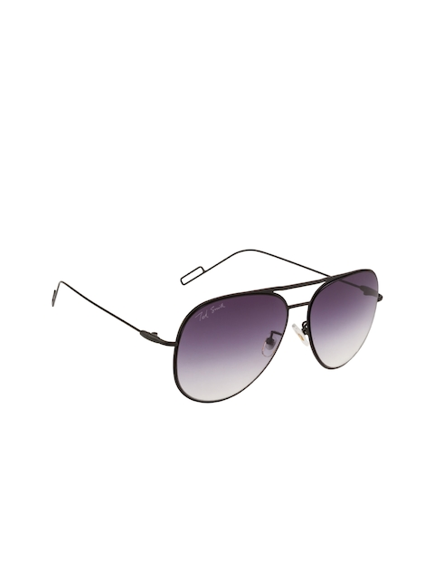 Ted Smith Unisex Oval Sunglasses TS-0770S_M.BLK