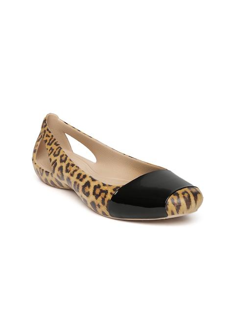 Crocs Women Yellow CrocsSienna Leopard Printed Ballerinas