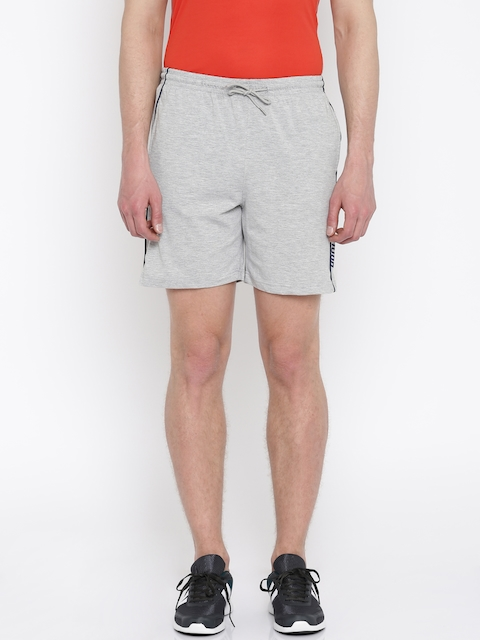 Proline Active Men Grey Melange Comfort Fit Shorts  available at myntra for Rs.384