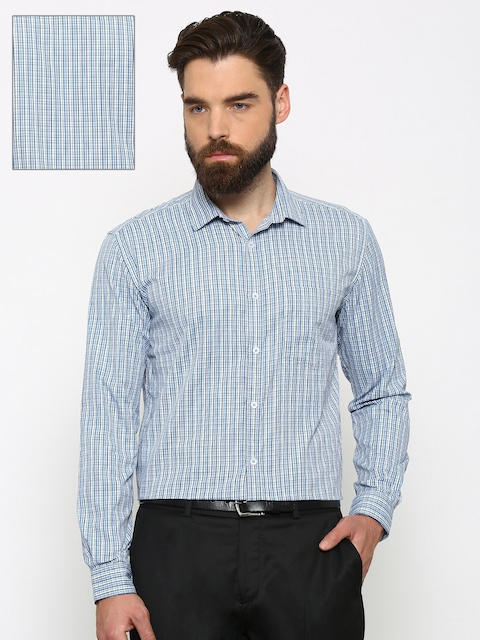 Independence Men Blue Slim Fit Checked Casual Shirt  available at myntra for Rs.199