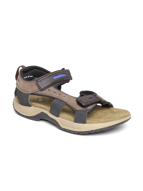 Woodland ProPlanet Men Brown Leather Sandals