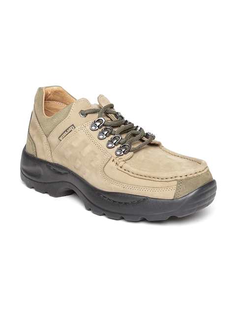 Woodland ProPlanet Men Khaki Leather Outdoor Shoes  available at myntra for Rs.2771