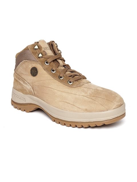 Woodland ProPlanet Men Brown Solid Mid-Top Leather Outdoor Shoes  available at myntra for Rs.2147