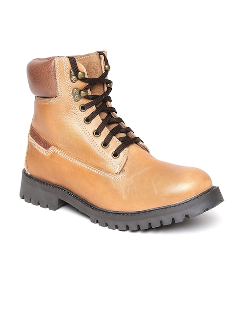 Woodland ProPlanet Men Tan Brown Leather High-Top Outdoor Shoes