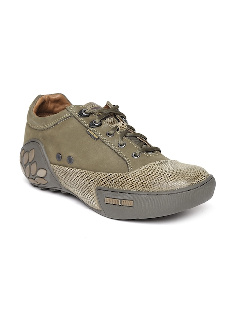 Woodland ProPlanet Men Olive Green Suede Casual Shoes