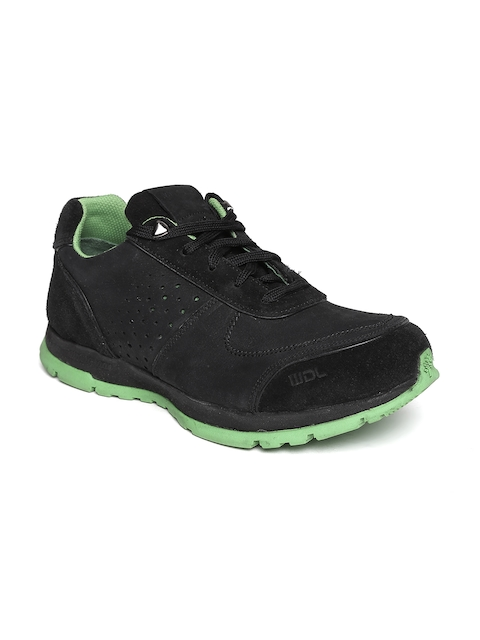Woodland ProPlanet Men Black Solid Leather Casual Shoes