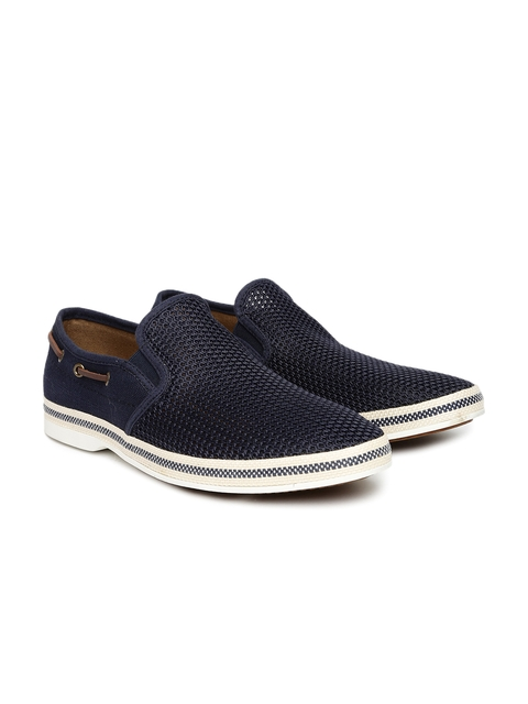 ALDO Men Navy Blue Slip-On Sneakers