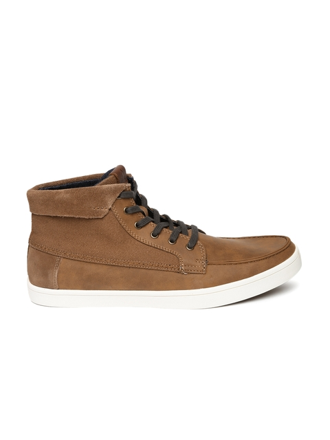 ALDO Men Brown DORMADY Leather Sneakers