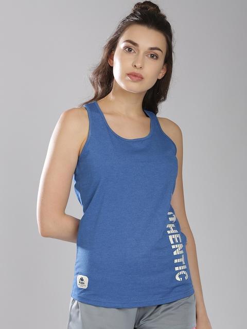 Kappa Women Blue Solid Tank Top