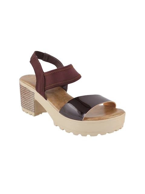 Mochi Women Brown Solid Platforms